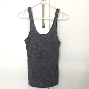 Lululemon Two in One Tank - Heather's Black